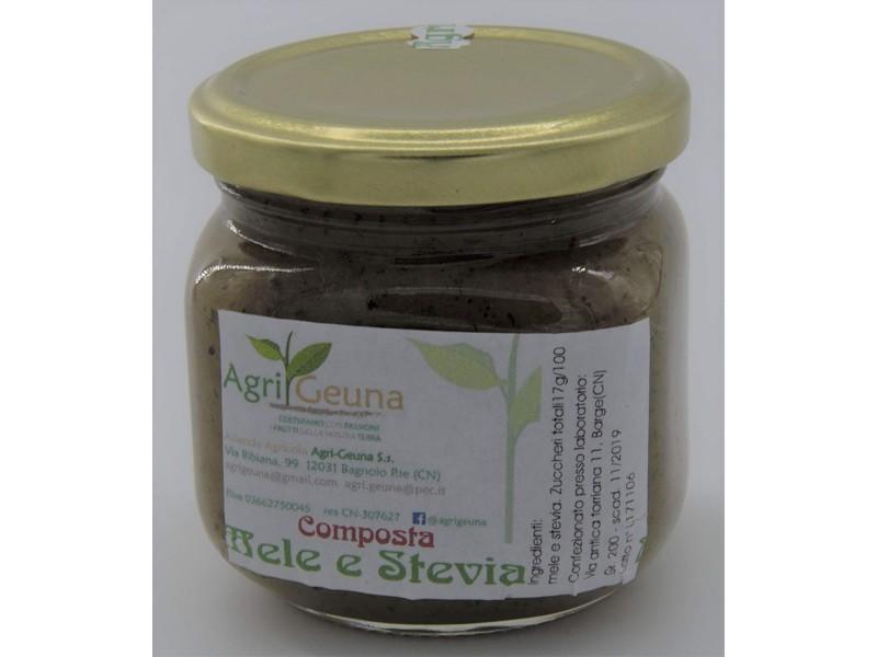 Composta naturale Mele Stevia - 200gr - Senza conservanti -