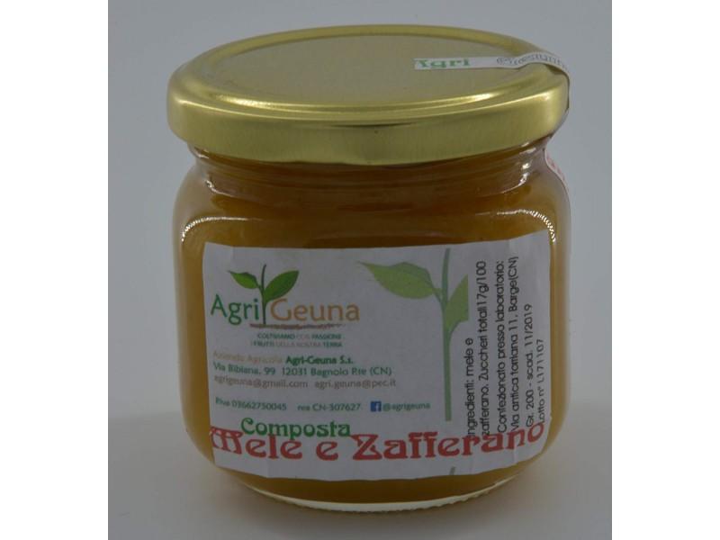 Composta naturale Mele Zafferano - 200gr - Senza conservanti - Senza
